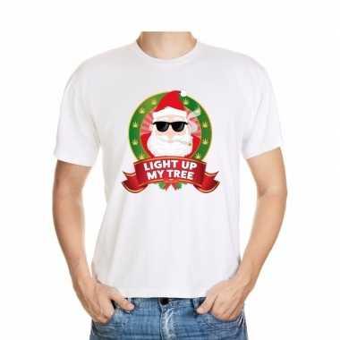 Foute kerst shirt blowende kerstman voor heren