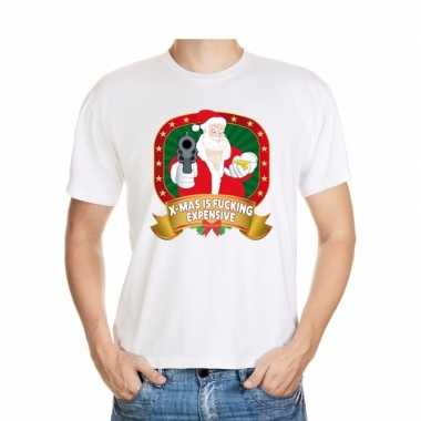 Foute kerst shirt wit x mas is fucking expensive voor heren