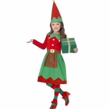 Kerstelf outfit voor meiden
