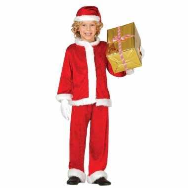Kerstmannen pluche outfit outfit 3 delig voor jongens/meisjes/kinderen