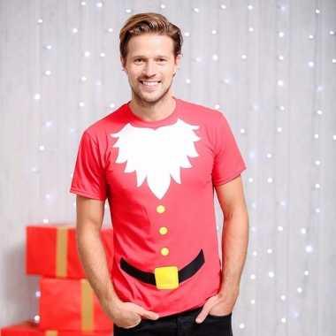 Kerstmannen print t shirt voor heren