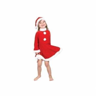 Kerstmeisje outfit met kerstmuts