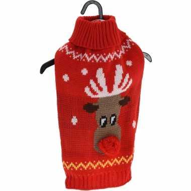 Kerstoutfit voor honden en katten rode kerst outfit met rendier