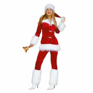 Kerstvrouwen outfit van fluweel