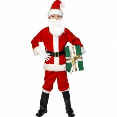 Kinder outfit kerstman deluxe