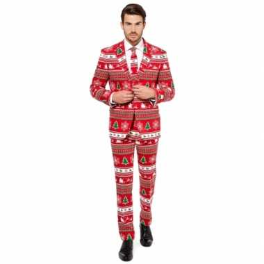 Rode business suit met kerst thema