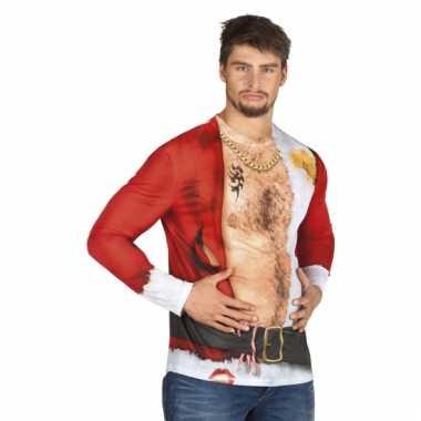 Verkleed t shirt aso kerstman heren