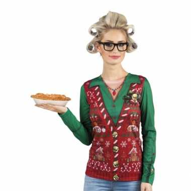 Verkleed t shirt kerst outfit oma dames