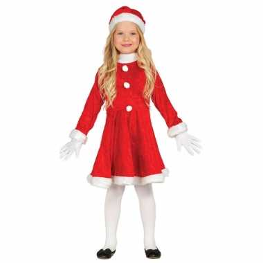 Voordelig kerstjurkje outfit outfit met kerstmuts voor meisjes