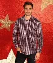 Foute kerst blouse met kerstmannetjes