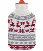 Kerstkruik grijs wit rood met rendieren kerst outfit hoes