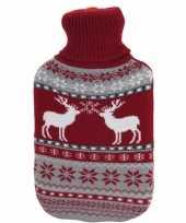 Kerstkruik met rood grijze rendieren kerst outfit hoes