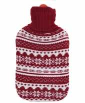 Kerstkruik met rood witte sneeuwvlokken kerst outfit hoes